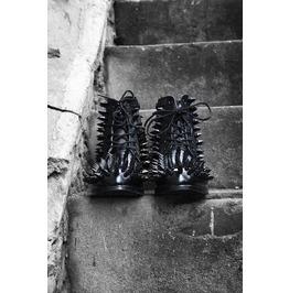 Hedgehog Black Stud Boots