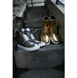 Belkro Cover Metallic Hitop Sneakers