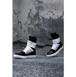 Multi Lace Leather Hitop Sneakers