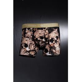 Underwear/Boxer Men's Gold Skull Stylish Fashion Boxer Brief Underwear