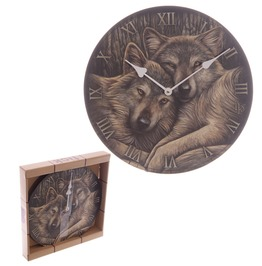 Egg N Chips London Fantasy Wolf Companions Lisa Parker Design Wall Clock