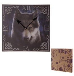 Egg N Chips London Gothic Fantasy Haunting Wolf Print Wall Clock