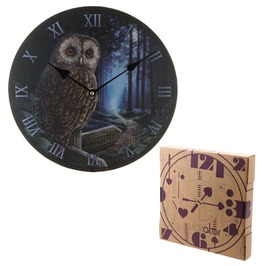 Egg N Chips London Decorative Owl And Pendle Sign Wall Clock