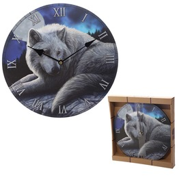 Egg N Chips London Guardian Wolf Design Decorative Wall Clock