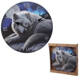 Egg N Chips London Guardian Wolf Design Decorative Wall Clock