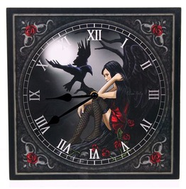 Egg N Chips London Fantasy Design Dark Angel With Raven Wall Clock