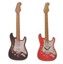 Egg N Chips London Fun Novelty Rock Guitar Shaped Wall Clock