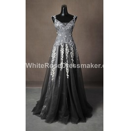 Gothic Wedding Dress Grey Gown Made To Measure Handmade Free Delivery