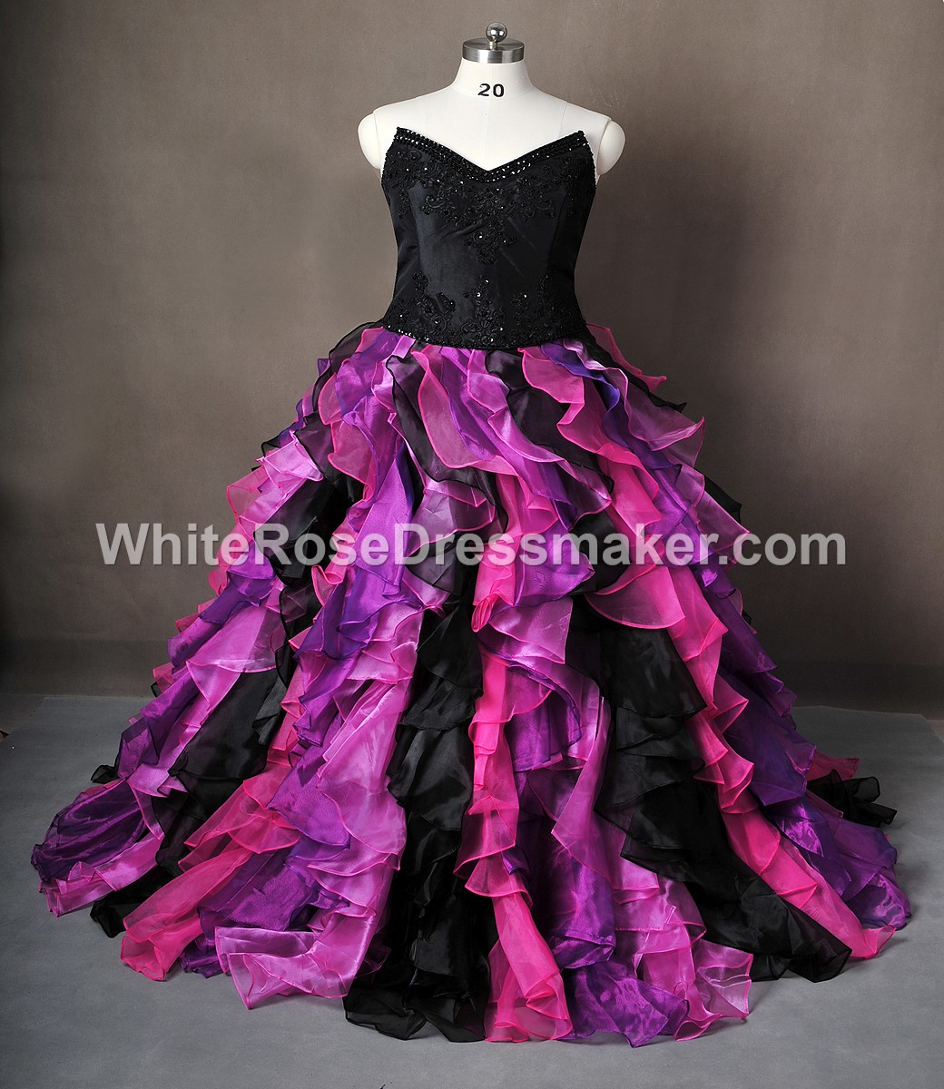 Gothic Wedding Dress Purple Gown Made To Measure Handmade