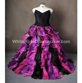Gothic Wedding Dress Purple Gown Made To Measure Handmade Uk