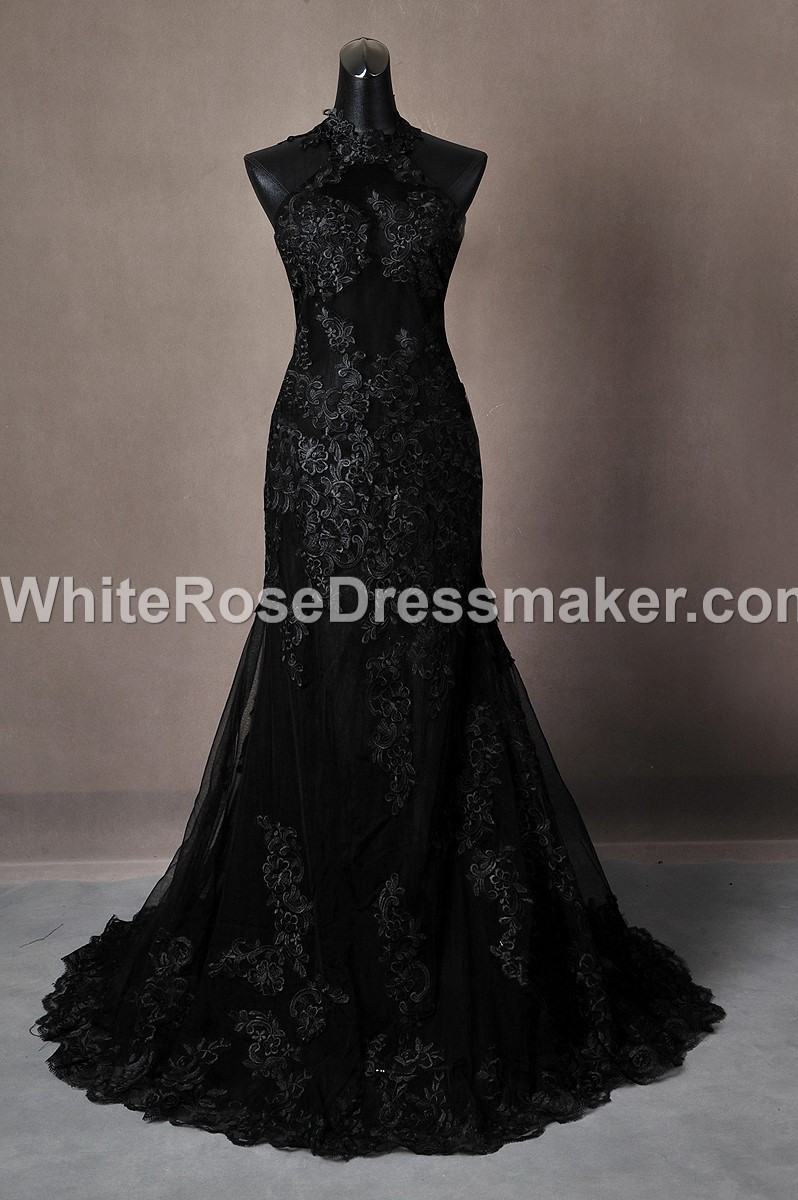 Gothic Wedding Dress Backless Gown Made To Measure Handmade Uk 125081
