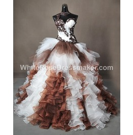 Gothic Wedding Dress Brown Costume Gown Made To Measure Handmade Uk