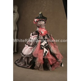 Gothic Wedding Dress Pink Fantasy Gown Made To Measure Handmade Uk