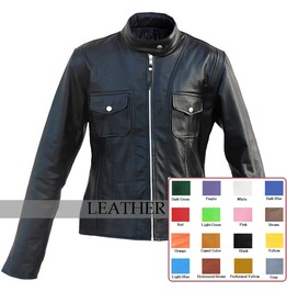 Mens Biker Leather Motorcycle Jacket Front Zip Punk Rocker Coat $9 To Ship