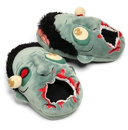 Plush Zombie Slippers One Size Fits Most