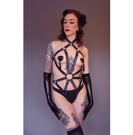 Lilith A Pu & Metal Bdsm Harness