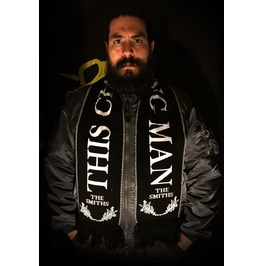 """The Smiths This Charming Man 58x9"""" Black Scarf"""
