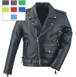 Mens Classic Black Leather Motorcycle Jacket Punk Biker Coat $9 To Ship