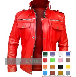 Choose Color: Mens Leather Front Snap Zip Jacket Rocker Coat $9 To Ship