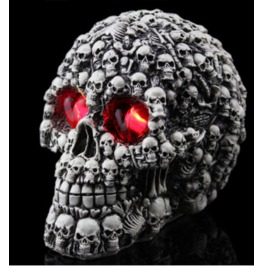 Handcraft Hallowmas Big Skull Resin Decorate Kl 4