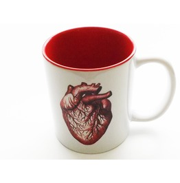 Anatomical Heart Coffee Mug Medical Goth Decor Doctor Nurse Gift