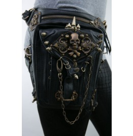 Women's Gothic Steampunk Skull Waist/Shoulder Bag