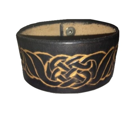Heavy Duty Leather Handmade Celtic Wristband_Bands_2.jpg