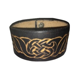Heavy Duty Leather Handmade Celtic Wristband