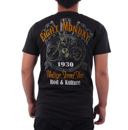 Eight Monday Shirt Vintare Mortorcycle Kulture Custom Cars Cafe Racer Em28