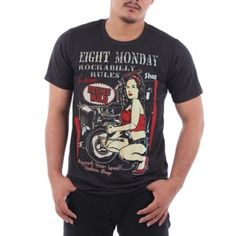 Eight Monday Shirt Vintare Mortorcycle Kulture Custom Cars Cafe Racer Em29