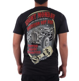 Eight Monday Rockabilly Men's Shirt Custom Cars Hot Rod Cafe Racer Em31