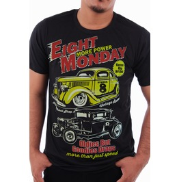 Eight Monday Rockabilly Men's Shirt Custom Cars Hot Rod Cafe Racer Em32
