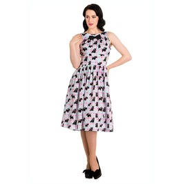 Brand New Cute Kitsch Retro 50s Style Scottie Dog Swing Dress Rockabilly