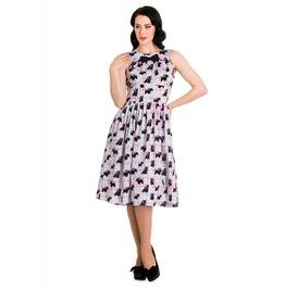 Brand New Cute Kitsch Retro 50s Style Scottie Dog Swing Dress Rockabilly