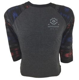 Antifashion Tribal Print Grey T Shirt
