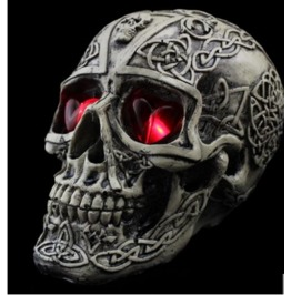 Handcraft Hallowmas Big Skull Resin Decorate Kl 6