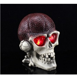 Handcraft Hallowmas Basketball Big Skull Resin Decorate