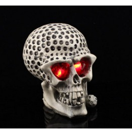Handcraft Hallowmas Big Golf Skull Resin Decorate Kl 8