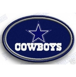 Dallas Cowboys Iron On Embroidered Patch Patches Nfl Football Sports