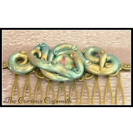 Green And Gold Tentacle & Eye Hair Comb