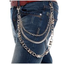 Men's Three Layer Wheel Gear Waist Chain