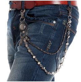 Men's Devil's Bones Double Deck Waist Chain Keychains