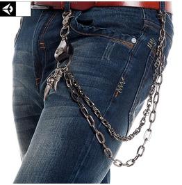 Rebelsmarket mens eagle double deck waist chain belts and buckles 7