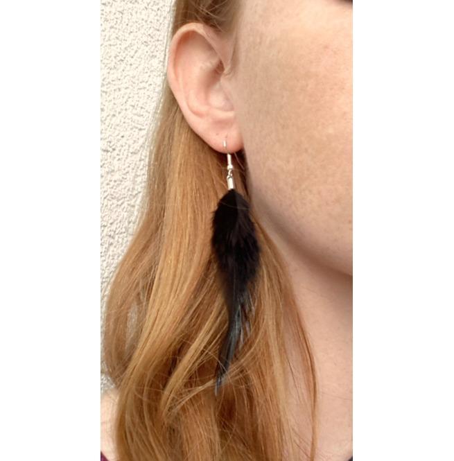 rebelsmarket_feather_earrings_long_black_feather_earrings_silver_earrings_soft_rooster_earrings_5.jpg