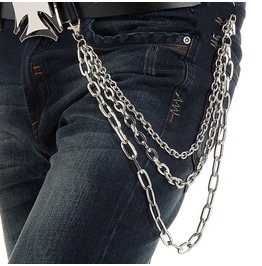 Men's Three Layer Mental Waist Chain