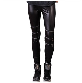 Black Leggings With Zippers