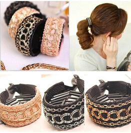 Fashion Chain Tail Clamp Claw Comb Jaw Ponytail Hair Clip Barrette Holders