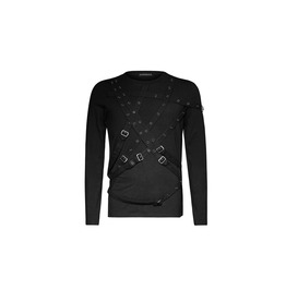 Punk Rave Military Style Gothic Long Sleeve Shirt