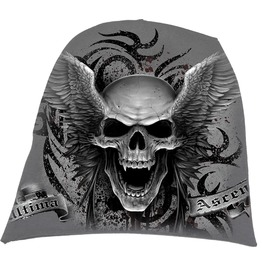 Men,S Light Cotton Beanies Grey Skulls Wings