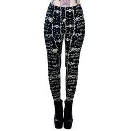New Women Gothic Rockabilly Black Leggings Pants